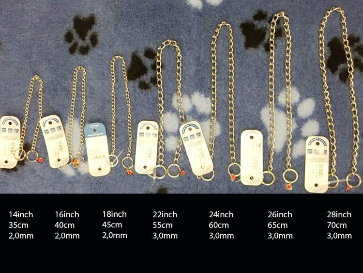 Sprenger lydighetshalsbånd stainless steel (kjettinghalsbånd) 8 størrelser fra 145,-