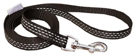 Trygg Kobbel Sort XS 10mm - 150cm til små hunder/valp