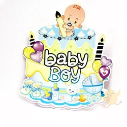 Banners Board Baby Boy Cake