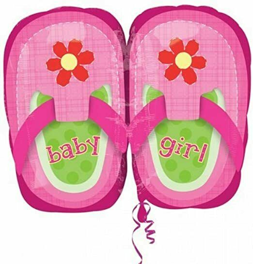 Foil balloon Baby Girl Shoes Pink