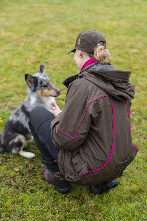 Dame Jakke New Dog Sports S.Brown/Fuchsia
