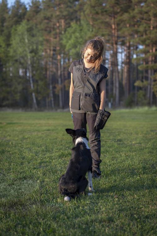 Dame Vest Dog Sports Light D.Anthracite