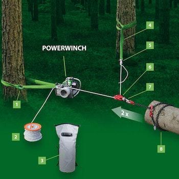 2c. Seil 100 m mit Kausche/ EDER-Powerwich 400/500/1200