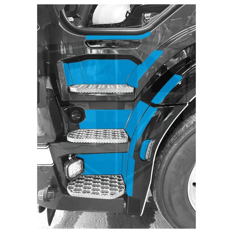 Instegsskydd Scania Next Generation G-modell - förarsida