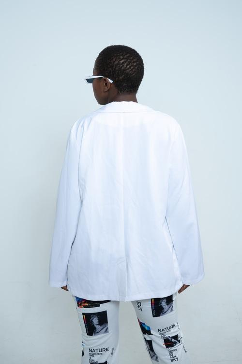 Oversized White Blazer