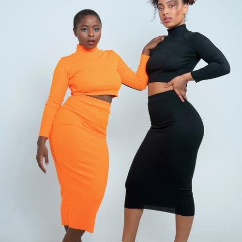 Ribbed Skirt Set