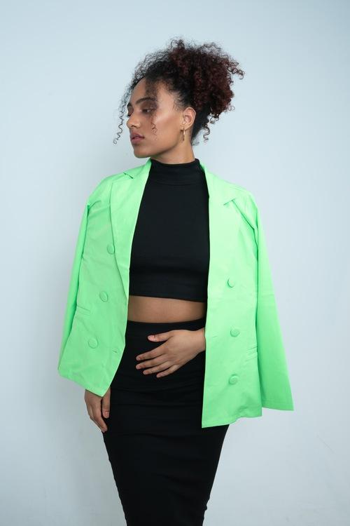Oversized Green Blazer