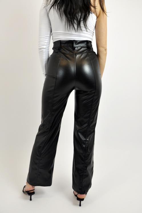 Straight PU Pants
