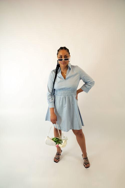 Blue Smock Dress