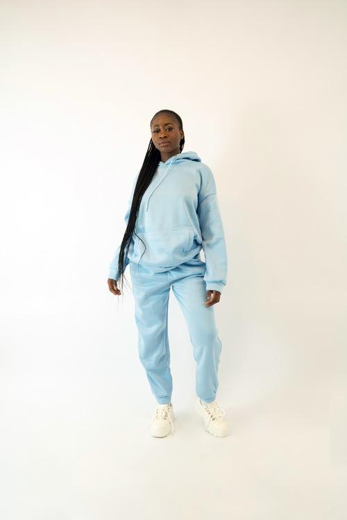 Blue Sweatshirt Set