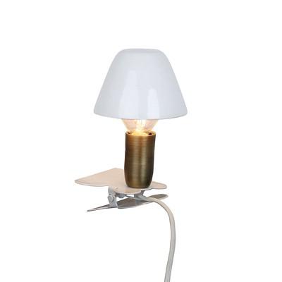 Lampa Mini På Klämma Vit