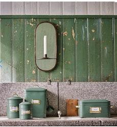 Spegel m. Ljushållare Antik Mässing