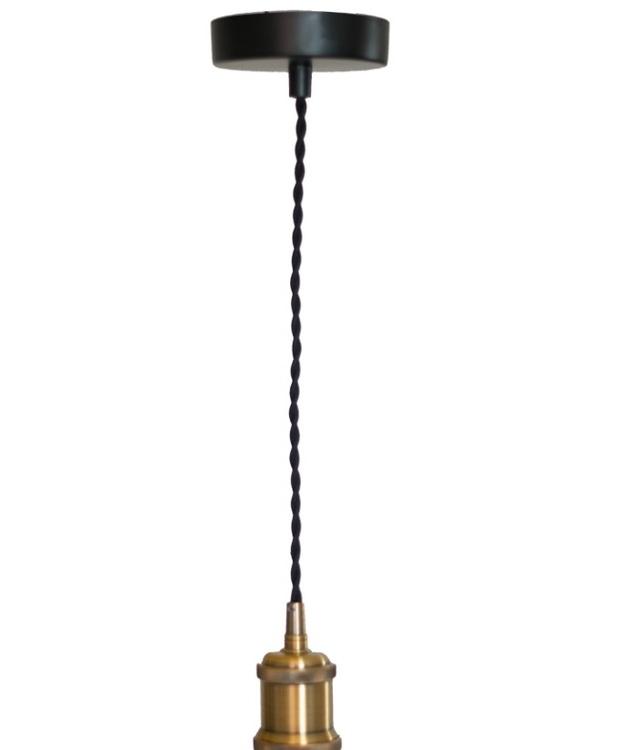 Lamphållare Black Twist 40 Cm E27