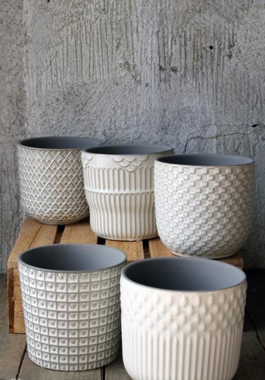 Keramik krukor i 5 pack