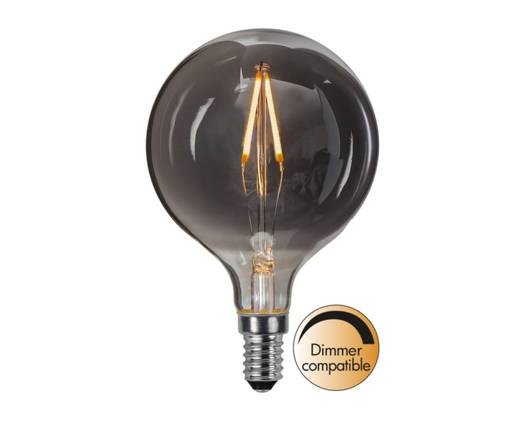 LED-LAMPA E14 G80 DECOLED SMOKE