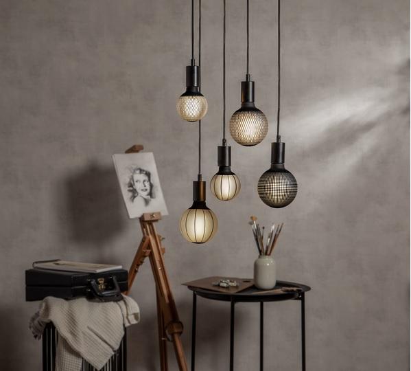 LED-LAMPA E27 G125 GRAPHIC