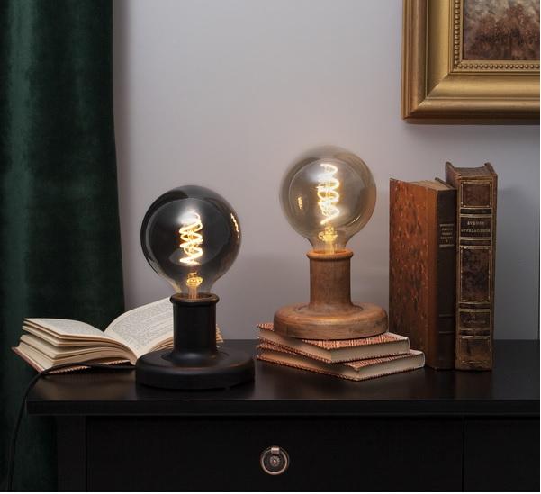 LAMPFOT E27 JOJO SVART