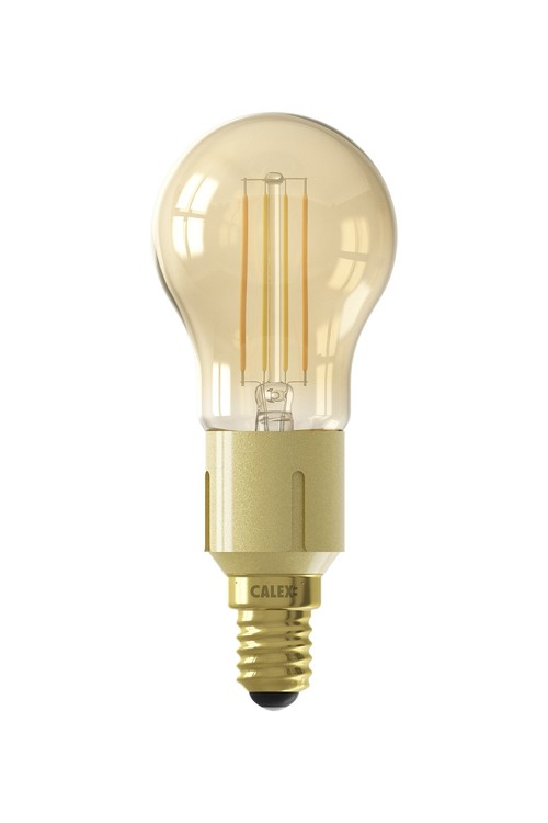 Calex Smart LED-glödlampa guldkula P45 E14 220-240V 4,5W 400lm 1800-3000K