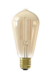 Calex Smart LED-filament Guld Rustik-lampa ST64 E27 220-240V 7W 806lm 1800-3000K