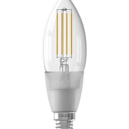 Calex Smart LED-glödlampa klar ljus B35 E14 220-240V 4,5W 450lm 1800-3000K