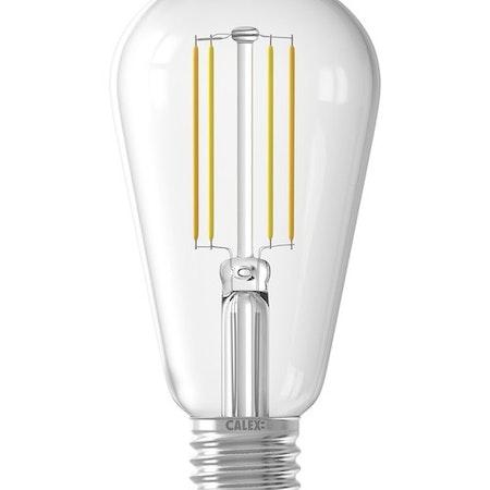 Calex Smart LED-glödtråd klar klar rustik lampa ST64 E27 220-240V 7W 806lm 1800-3000