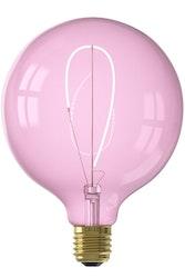 Calex NORA LED-färger Globe G125 mjuk U-filament 220-240V 4W E27, kvartsrosa 2000K dimbar
