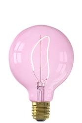 Calex NORA LED-färger Globe G95 mjuk U-filament 220-240V 4W E27, kvartsrosa 2000K dimbar