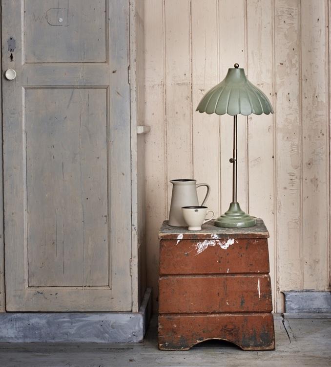 Bordlampa Annie Antik Grön