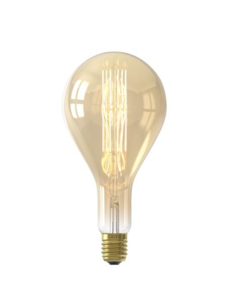 Calex LED Full Glass LongFilament Splash 220-240V 11W E40 PS160, Gold 2100K Dimmable