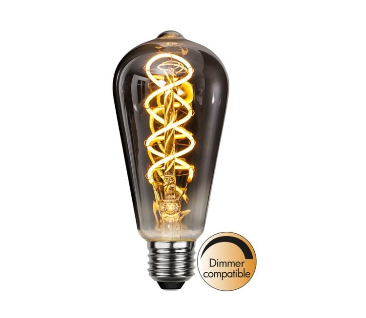 LED-LAMPA E27 ST64 DECOLED SPIRAL SMOKE