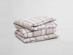 Flannel Check Påslakan 150x210 cm Grey