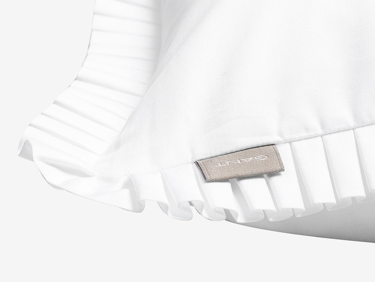 Satin Pleat Örngott 50x60 cm White