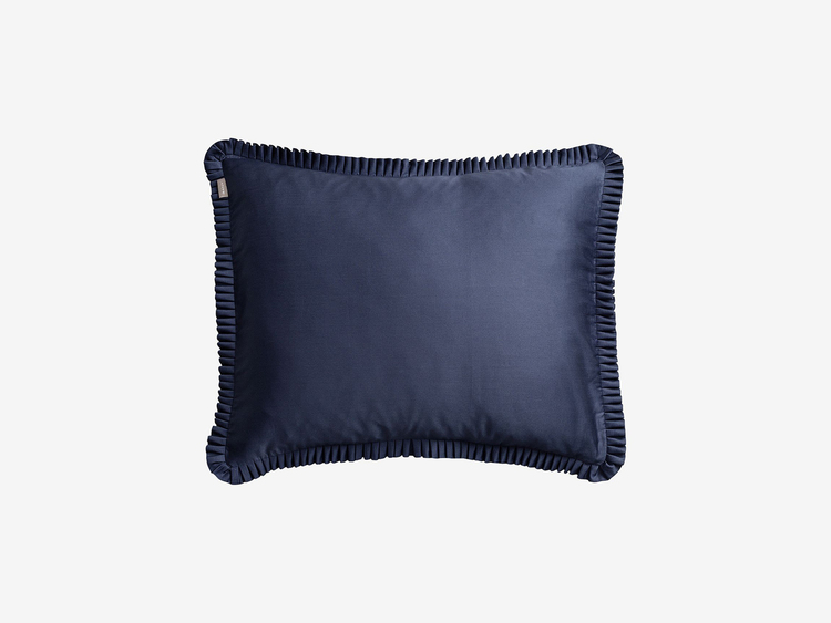 Satin Pleat Örngott 50x60 cm Satin Blue
