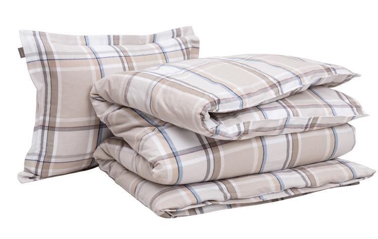 Flannel Check Örngott 50x60 cm Grey