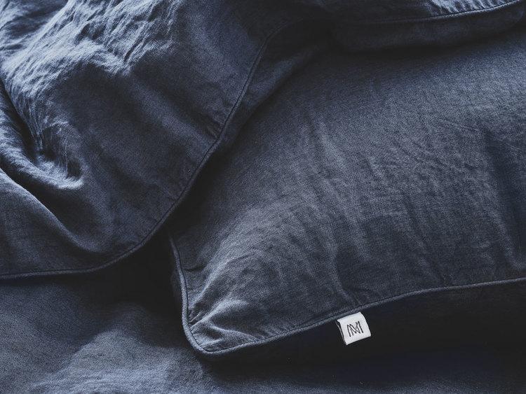 Lino Påslakan Mörkblå 150x210