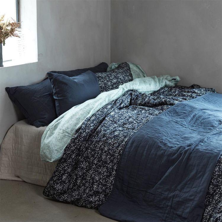 Påslakanset Vincent Ekologisk Satin Ombre Blue 150X210 + 50X60 cm