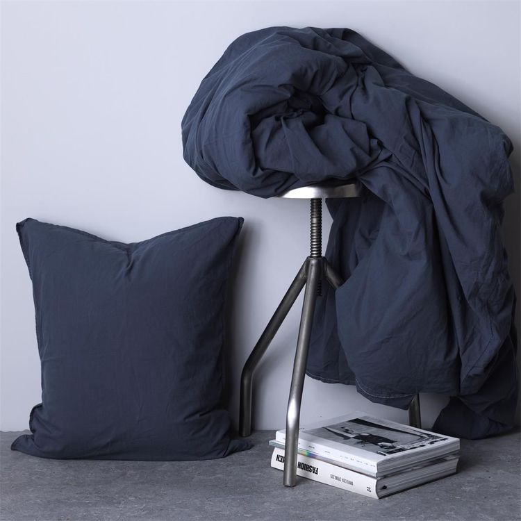 Örngott Vintage GOTS Ekologisk Ombre Blue 50X60 cm