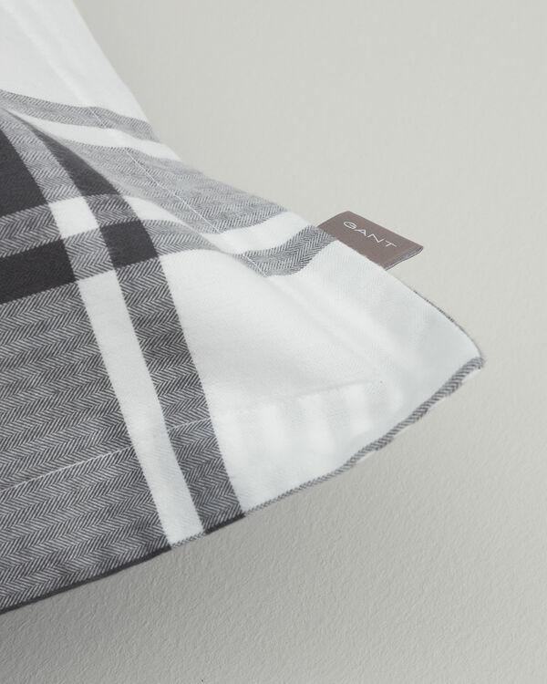 Flannel Check Påslakan 150x210 cm Antracite