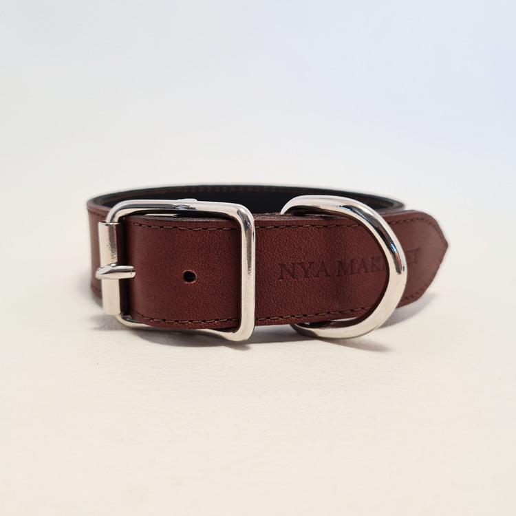 """Halsband & Koppel """"DEXTER"""" Brun 2,5cm"""