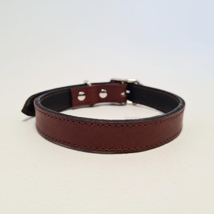 "Halsband & Koppel ""DETXTER"" Brun 1,5cm"