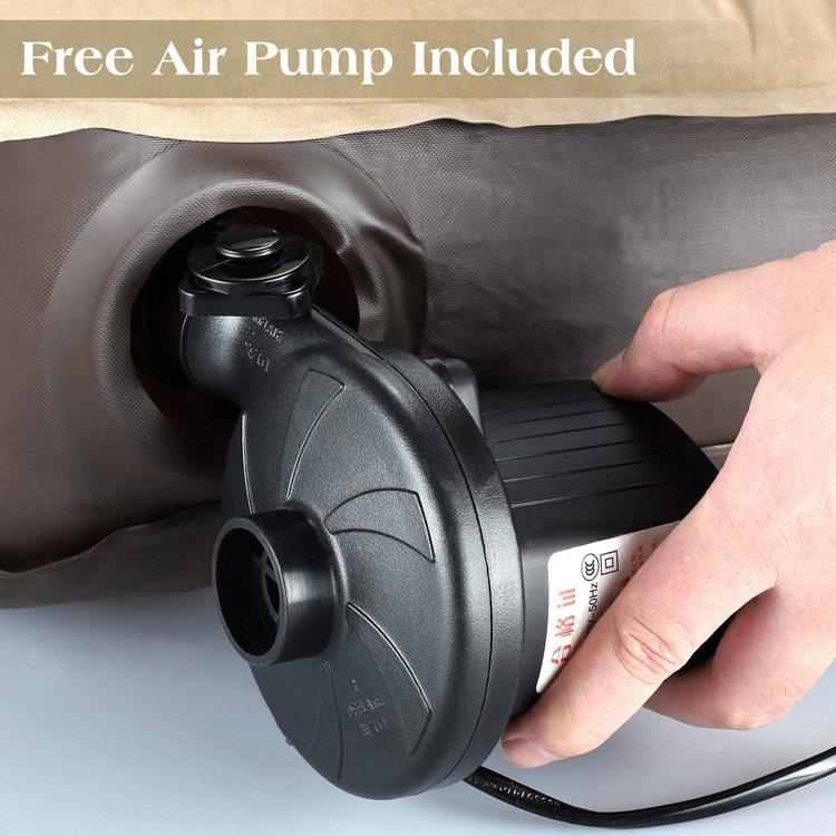 Luftmadrass med 12V pump