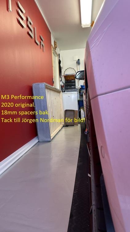Spacers för Model 3 / Y (Kit)