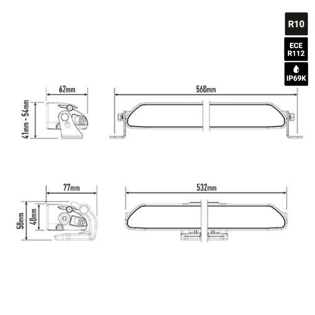 Extraljus LAZER Linear 18 Elite 126W