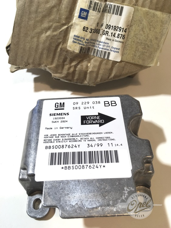 Kontrollmodul SRS Airbag
