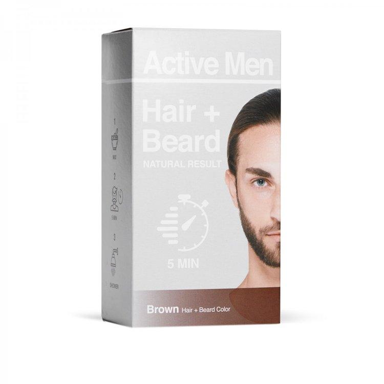 Active Men skägg- och hårfärg - Svart