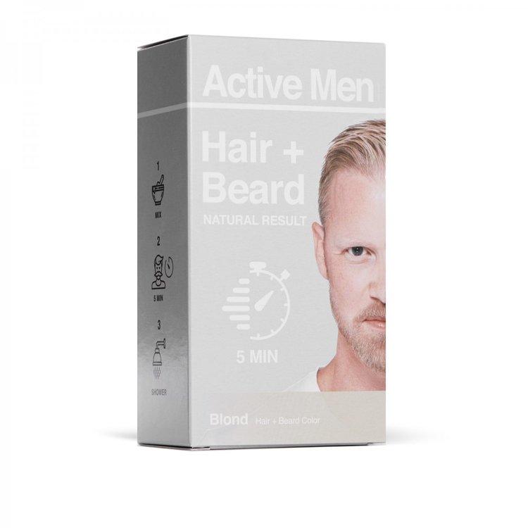Active Men skägg- och hårfärg - Blond