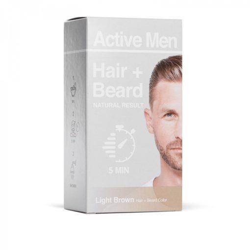 Active Men skägg- och hårfärg - Ljusbrun
