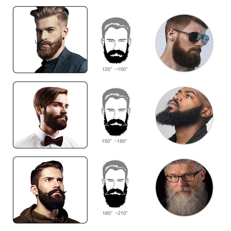 Plattborste för skägg och hår