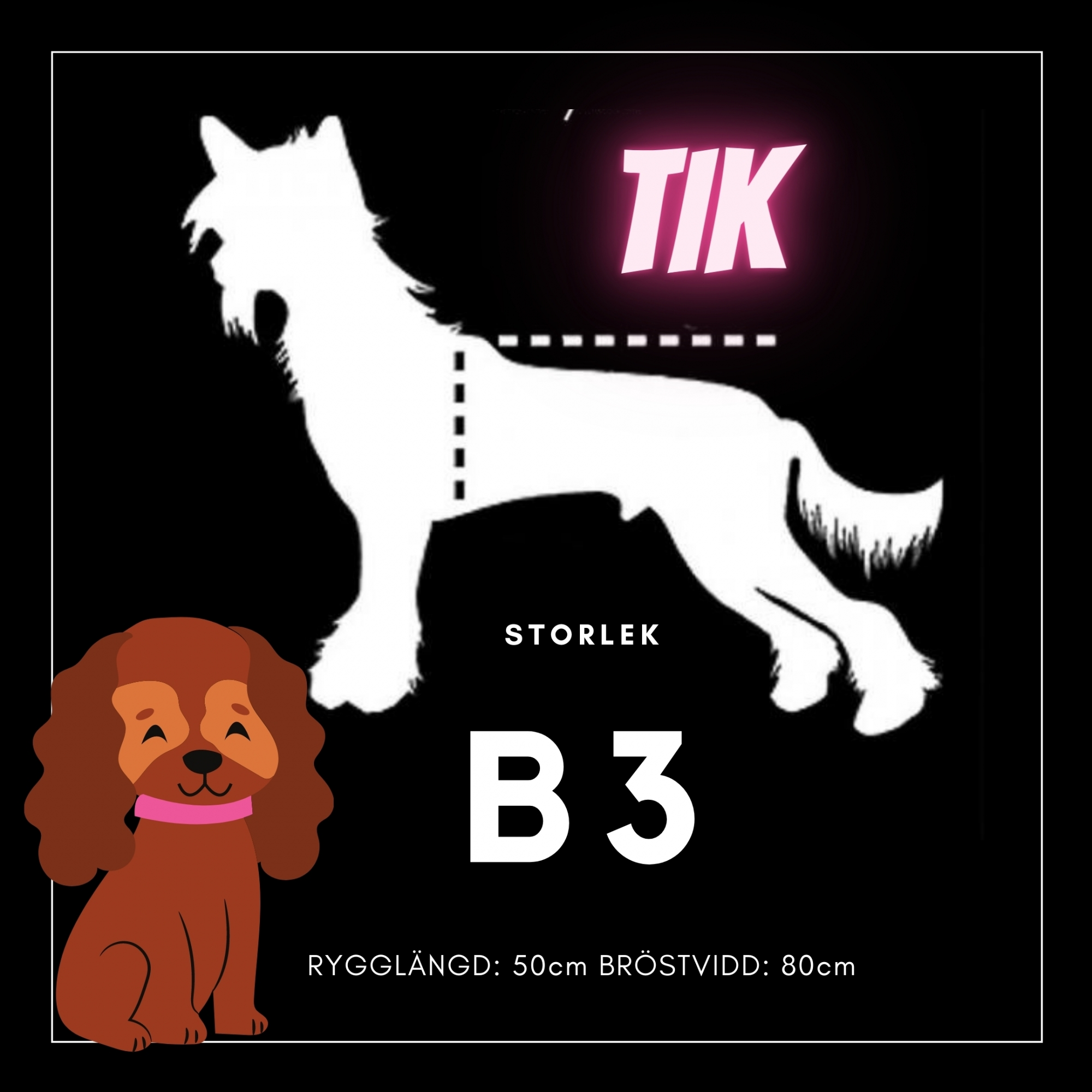 Tik Storlek B3 - Passion For Pet Fashion