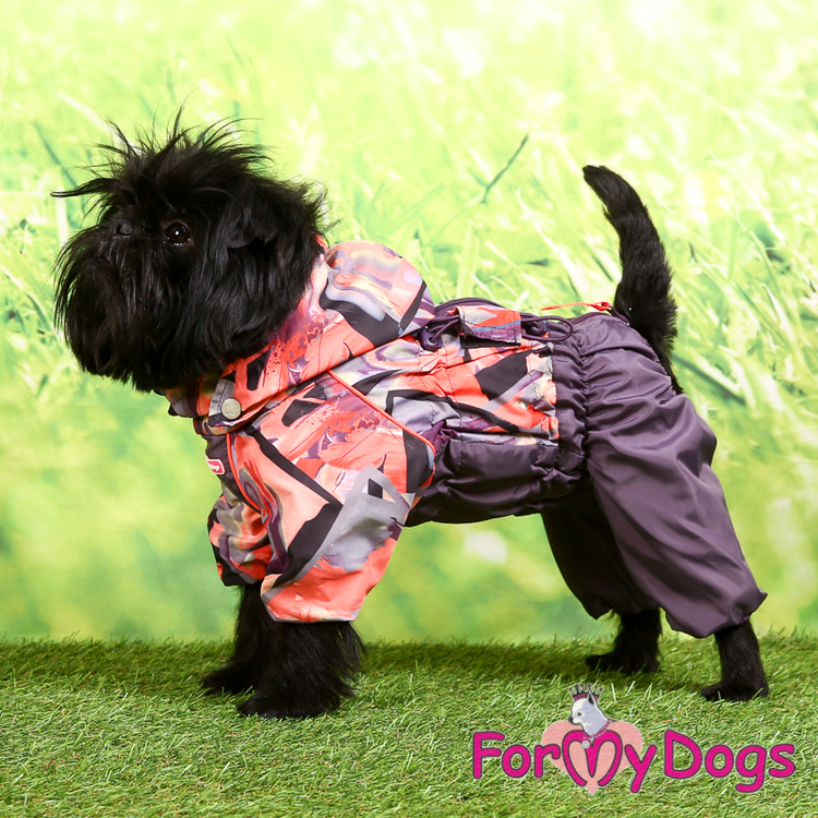 """Regnoverall """"Purple Pinkvaganza pattern"""" Tik """"For My Dogs"""""""